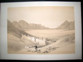 David Roberts Egypt 1844 LG Folio. Convent of St. Catherine Mount Sinai